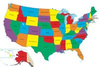 US Map Bright Colors