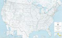 US Rives & Lakes Map